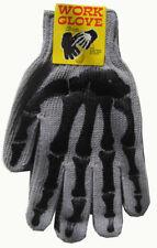 Unisex Fashion Cotton Gloves with Bone Skeleton Prints Full Fingers Black Gray