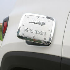 For Jeep Renegade 2015 2016 2017 ABS Chrome Gas Fuel Tunk Trim Cover Silver