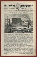 The Saturday Magazine N. 117 Port of London Betsy Cains Tynemouth Trinity House