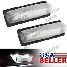 1 Pair 6000K White License Plate Lamp Light Bulb Error Free for Lexus/Toyota