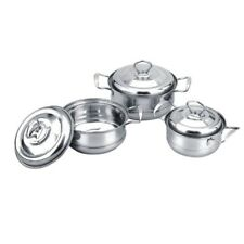 Quality 6-piece Stainless Steel Cooking Pot Set