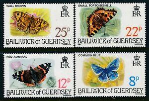 1981 GUERNSEY BUTTERFLIES SET OF 4 FINE MINT MNH