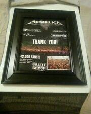 Metallica, Deftones,Linkin Park, Mudvayne Montreal Quebec Rare Ad Framed