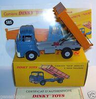 DINKY TOYS ATLAS CAMION TRUCK GAK BERLIET BENNE BASCULANTE REF 585 IN BOX 1/43
