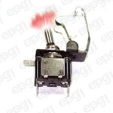 ON/OFF SPST 3P RED ILLUMINATED TOGGLE SWITCH w/TRANSPARENT COVER #662050/665016