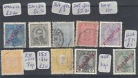Portugal Early Collection of 9 Values VFU/Mint J4100