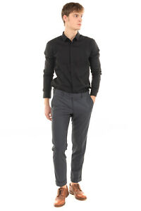 RRP €125 DOMENICO TAGLIENTE Flat Front Trousers Size IT 46 / S Turn-Up Cuffs