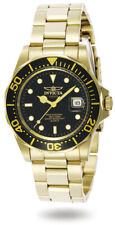 Invicta Men's Watch Pro Diver Quartz Dive Black Dial Yellow Gold Bracelet 9311