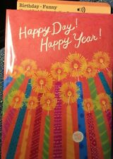 Hallmark Musical Birthday Card + Lights song Happy Birthday Candles Light Up