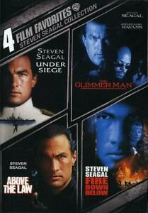 Steven Seagal 4 film Favorites DVD Above the Law Fire Down Below Glimmer Man