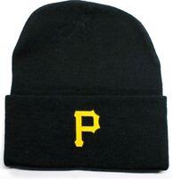 READ LISTING! Pittsburgh Pirates HEAT Applied Flat Logo on Beanie Knit Cap hat