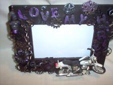 Love my Harley , steampunk/altered art frame, handmade, new #4