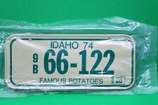 1980 Idaho Famous Potatoes Wheaties Post Cereal Bike License Plate