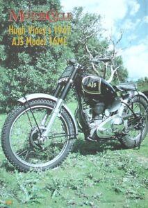 a Magazine Mini Poster - A4 Size (21cm x 30cm) Hugh Viney's 1947 AJS Model 16MC