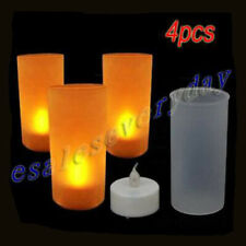 4pcs Flameless LED Flickering candle Tealight , Sound Activated new
