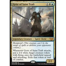 *FOIL* GEIST OF SAINT TRAFT NM mtg Blessed vs Cursed Gold - Spirit Cleric Mythic