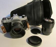 Asahi Pentax K 1000 35mm SLR with extra macro 70 mm lens and carry bag