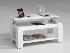 Ansel Lift Up Top Storage Coffee Tea Table Living Room Furniture Chunky White