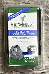 Vet's Best Perfect-Fit Washable Male Wrap XXS/XS Bet Recommended  Fast Ship