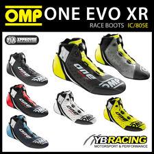 IC/805E OMP EVO X R TOP LEVEL RACE BOOTS LEATHER FIREPROOF FIA 8856-2018 RACING