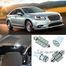 White SMD Car Bulb Light Interior LED Package 15pc Kit For Subaru Legacy 2015-up
