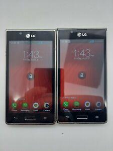 Lot of 2 LG Venice LG730 Boost Mobile 4GB Black *Check IMEI*