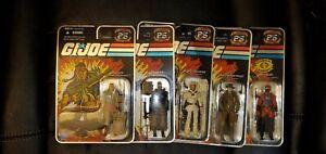 Gi joe 25th anniversary 5 cobra action figures lot.  Spirit, Beachhead and more!