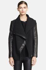 NWOT Helmut Lang Blizzard Leather Trim Jacket Black Size S $995