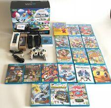 GRAN LOTE Wii U.CONSOLA MARIO & LUIGI PREMIUM PACK 32GB + 19 JUEGOS + 3 MANDOS..