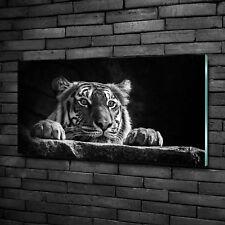 Glas-Bild Wandbilder Druck auf Glas 140x70 Deko Tiere Jaguar