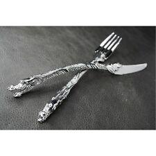 Silver Dragon Rock Fork Knife Tableware Silverware Set for Harley Davidson Biker