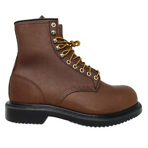 Red Wing Men's 8-inch Safety Toe Work Boots 2233 Brown Long Wear Size 10EEE
