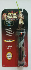 Star Wars Episode 1 Candy Battle Saber-Qui-Gon Jinn New in Package New old Stock