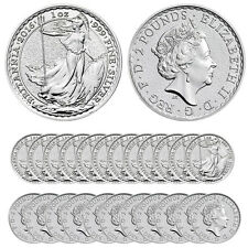 2016 Silver British Britannia Coins - .999 (BU, Tube/Roll of 25)
