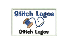 Embroidered Personalised Badge Company Name Patch 10x6cm Logo + HOOK OR LOOP