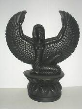 "Winged Isis - Black Resin - 8"" - Egyptian Goddess"