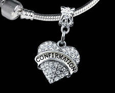 Confirmation charm  Communion charm  best gift  (charm only)  Crystal Heart