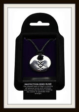 VIKING PROTECTION BIND RUNE PEWTER PENDANT NECKLACE ~ FROM ST. JUSTIN ~ FREE P&P