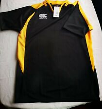 Canterbury, Yellow and Black, T Shirt, Size S NEW WITH TAGS