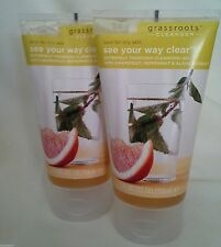 2 Grassroots Cleanser See Your Way Clear Gel 5.0 Oz Each Sealed Face Wash New