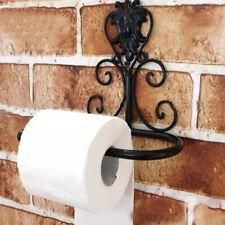 CW_ European Retro Paper Roll Holder Wall Tissue Rack Bathroom Toilet Storage Sh