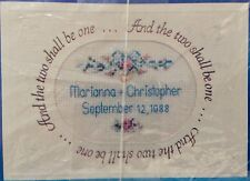 Current Cross Stitch Card Kit WEDDING ANNOUNCEMENT Wonderful Gift Idea Fast Easy