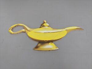 Giant Wooden 2D oil Lamp Aladdin gold Treasure prop fairytale Disney