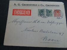 Nederland 177(2), 178 op EXPRES brief Groningen - Baarn 1936
