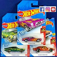 HOT WHEELS - Lot of 3 -'73 FALCON XB -'68 Shelby GT500 - '69 Dodge Charger - G11