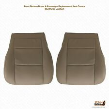 2001 2002 Toyota Tundra DRIVER-PASSENGER Bottom Synthetic Leather Seat Cover TAN
