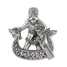 Sterling Silver Njord Pendant - Dryad Design Viking/Pagan Rune Talisman/Amulet