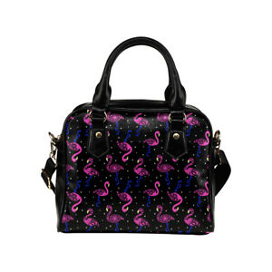 Flamingo Print Ladies Small Handbag, Crossbody bag, Summer, Rockabilly, 50's