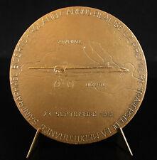 Médaille 1977 Roland Garros pilote avion de chasse Morane-Saulnier 1913 medal