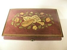 Wood Inlaid Jewelry Music Box Flowers Musical Instruments Plays Torna a Surrient